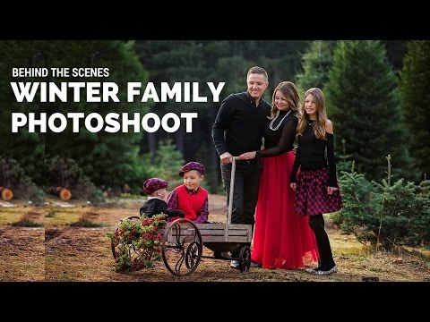 Family Photoshoot at CHRISTMAS Tree Farm Behind the Scenes Sacramento Photographer Svitlana Vronska