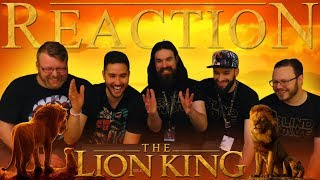 The Lion King Official Trailer REACTION!!