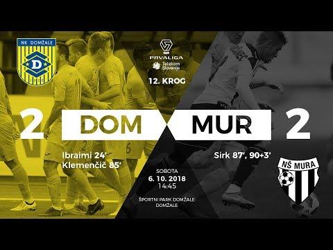 12.krog: Domžale - Mura 2:2 ; Prva liga Telekom Slovenije 2018/2019