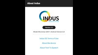 indus os features and review