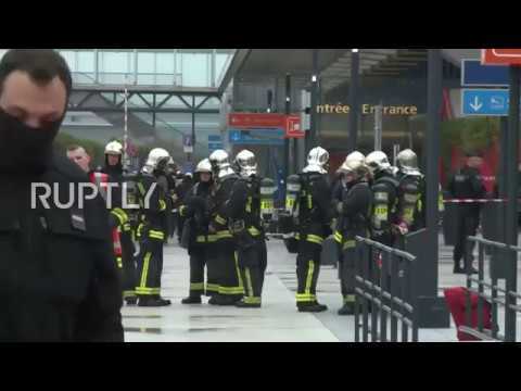 France: Emergency services swarm around Paris Orly Airport after shooting
