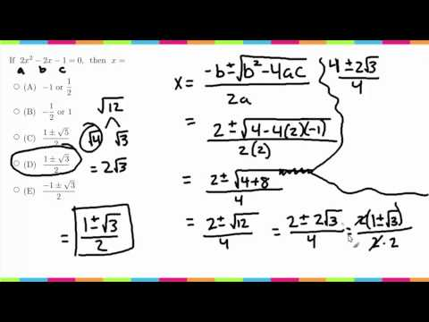 MDTP Mathematical Analysis Readiness Test (MA): Solution to #34