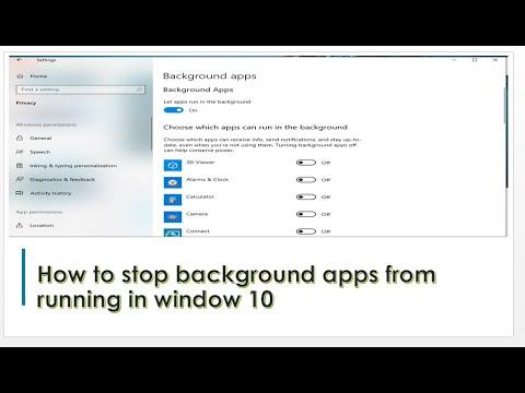 Cách Dừng Các Ứng Dụng Nền Đang Chạy Trên Windows 10 - VERA STAR