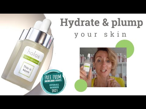 Hydrate & plump with Holos - This is More Facial & Eye Serum made with pure hyaluronic acid