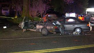B-roll & photos: 2 car crash, Wallitner Rd, Arlington, WA 041213