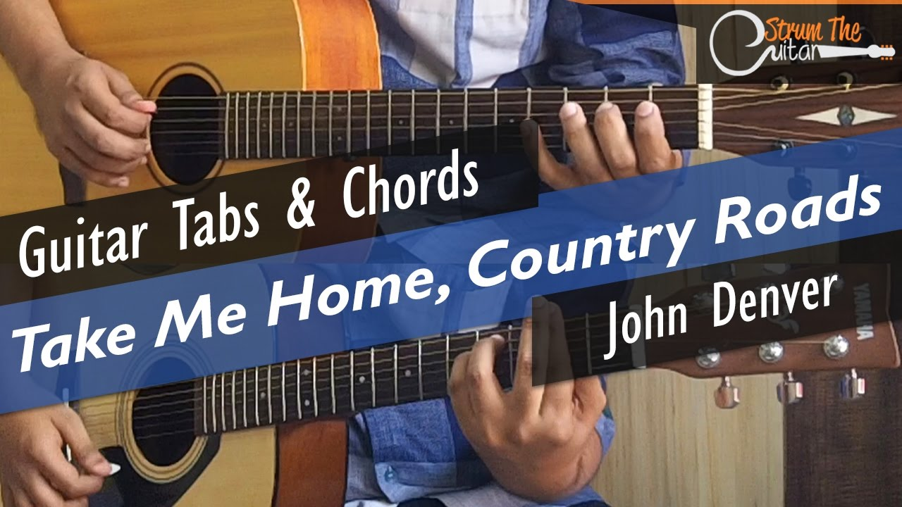 Take Me Home Country Roads Guitar Tabs Lead Chords Lesson