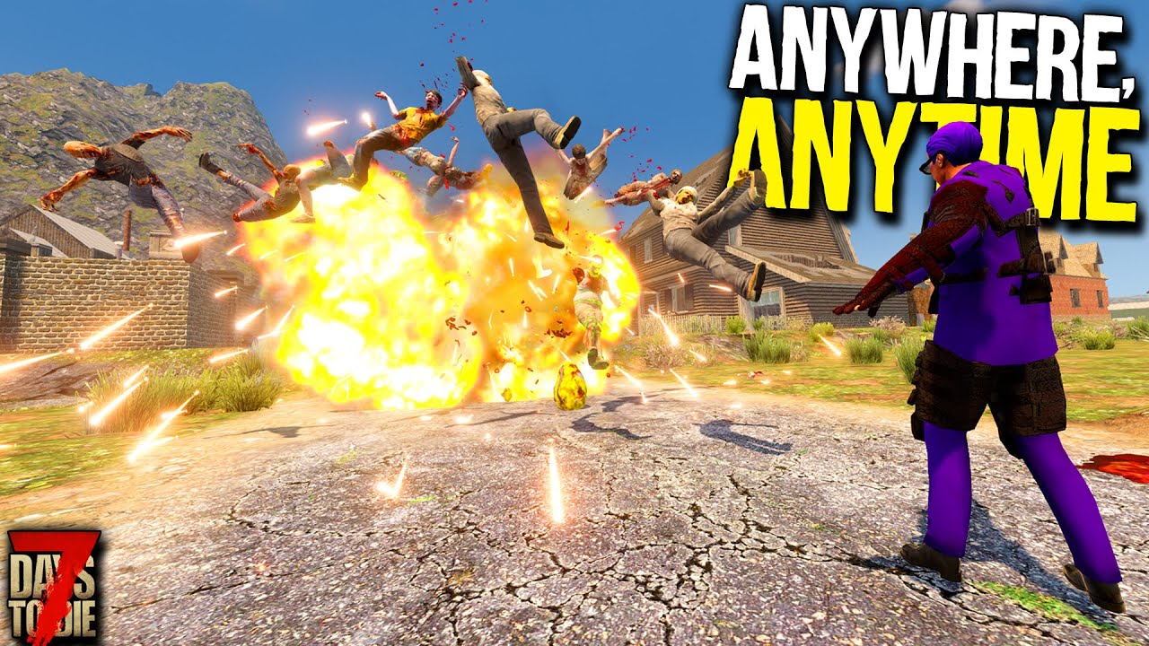 EXPLODING ALL THE ZOMBIES! - 7 Days to Die: Anywhere, Anytime! - Day 11