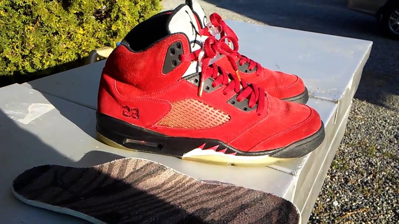 wholesale dealer 7ee48 ae394 Jordan 5(V) Raging Bull Review  On Feet