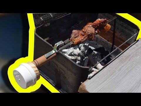 Faça um churrasco perfeito com o espeto giratório caseiro!