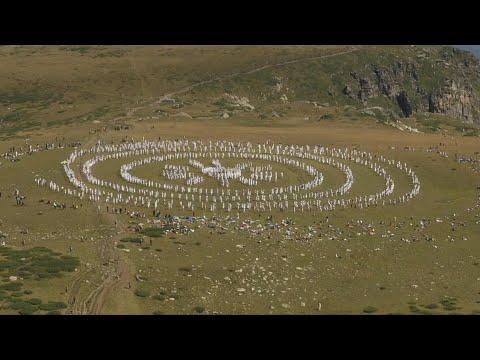 Pilgrims perform cosmic-like meditative dance in Bulgaria's Rila mountains   AFP
