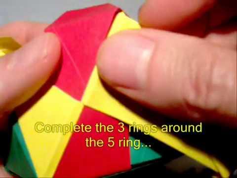 Cách xếp khối hộp 20 mặt bằng giấy theo phong cách Origami   vnHow vn