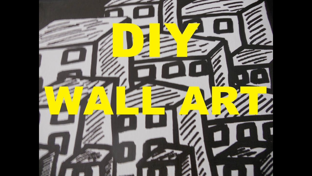DIY WALL ART CANVAS USING A MARKER/SHARPIE- BLACK & WHITE ...