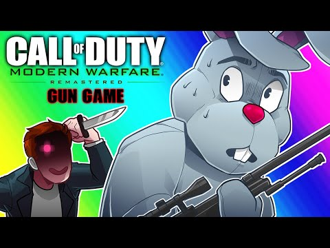 COD4 Remastered: Gun Game Funny Moments - Ultimate 1v1 Duel with Ohmwrecker!