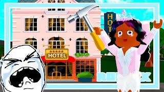 Bloxburg: I BUILT A HOTEL IN 10 MINUTES... (Roblox)