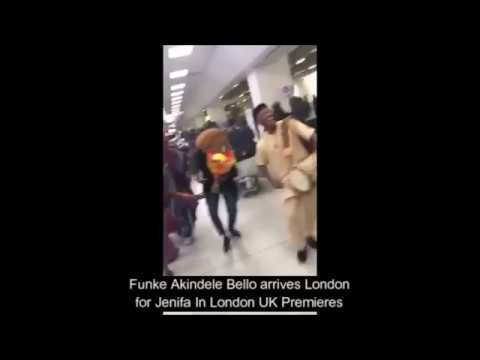 Cultural Icon Ayan De First meets Funke Akindele Bello at Heathrow Airport