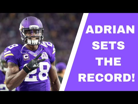 Remember When Adrian Peterson Set Single Game NFL Rushing Record? Vikings Star Ran For 296 Yards!!