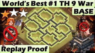 TH 9 ( TOWN HALL 9 ) ANTI 2 STARS WAR BASE || ANTI GoVa GoVaHo || REPLAY PROOF || CLASH OF CLANS
