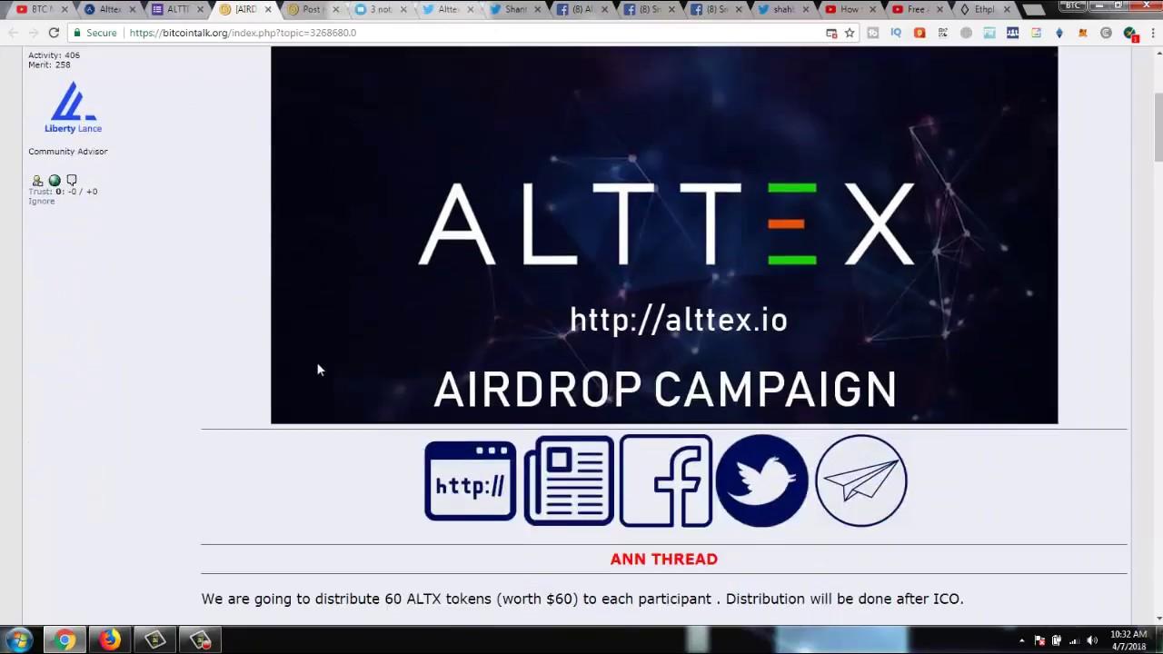 Alttex Token Free 60 Altx Coin 60 Altx60 Free