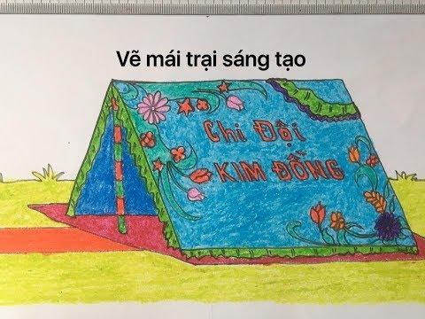 Vẽ mái trại, trang trí lều trại P2/Draw camp, decorate tents P2 | Bao quát các kiến thức nói về cách trang trí lều trại chi tiết nhất