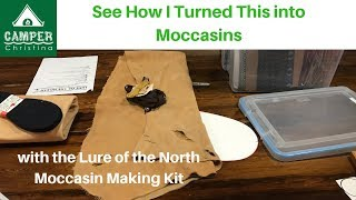 Making Handmade Moccasins with the Lure of the North Kit