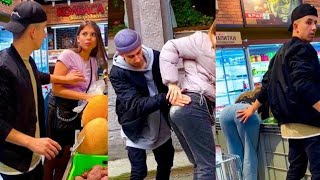 HOT pick up lines girls best reactions funny pranks by russian prank boy Qylek#bodybuilderprank