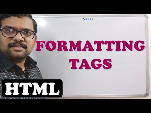 FORMATTING TAGS - HTML