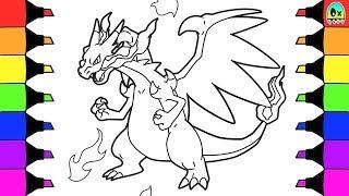 Pokemon Coloring Pages Mega Evolution Charizard x Colouring book fun