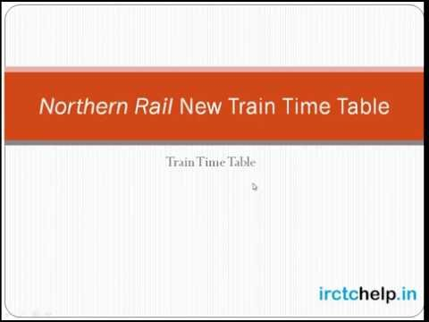 Northern Rail Time Table