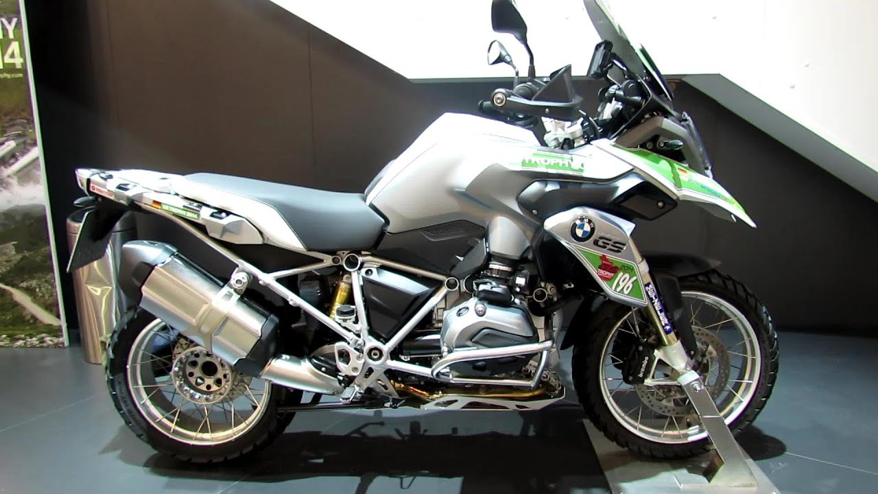 2014 BMW R1200GS Trophy Walkaround - 2013 EICMA Milano Motorcycle ...
