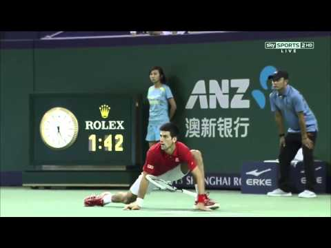 Novak Djokovic Vs Juan Martin Del Potro FINAL HIGHLIGHTS SHANGHAI MASTERS 2013 FULL HD   YouTube