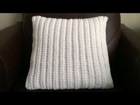 How To Knit A Spikeletes Pillow, Lilu's Handmade Corner Video # 71