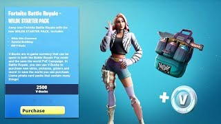 "NEW FORTNITE STARTER PACK ""WILDE"" ACTUAL GAMEPLAY LEAKED DANCES AND NEW LEAKED STATER PACK SKIN LEAK"