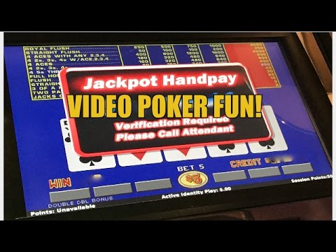 HANDPAY! VIDEO POKER HIGH LIMIT-LIVE PLAY