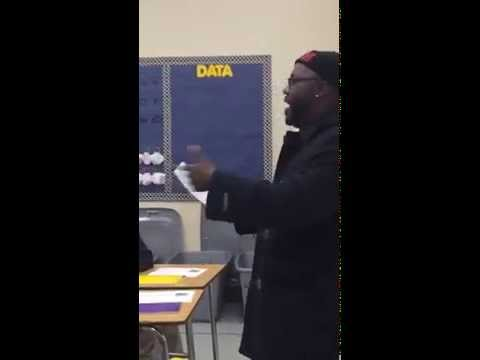 Mistah F.A.B. at Oakland Charter Academy - using students' words as inspiration