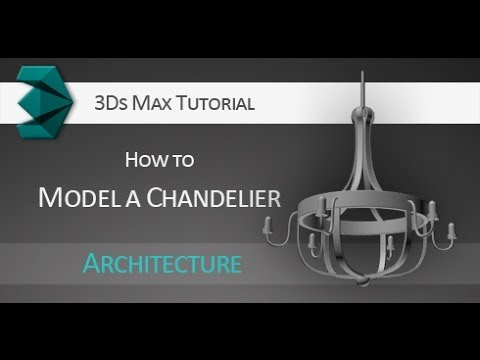 Tutorial: How to model a 3D Chandelier using splines in Autodesk 3Ds ...