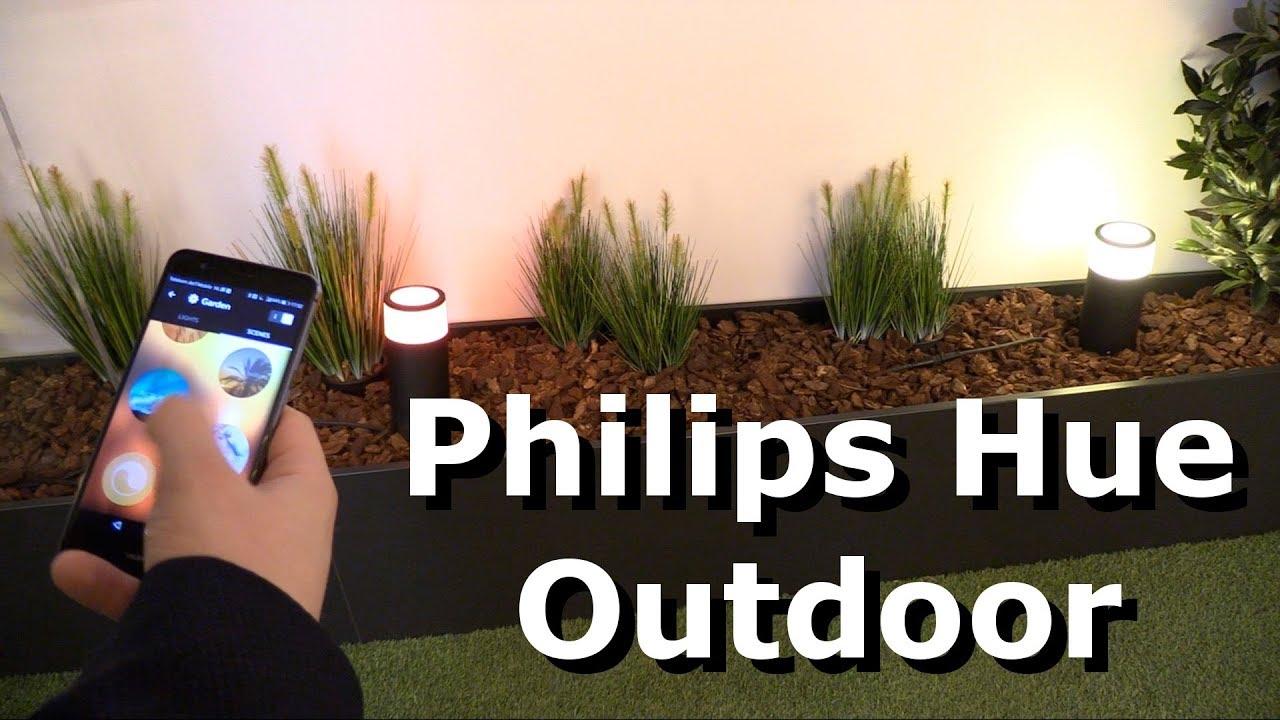 Philips Hue Outdoor Led Leuchten Fur Den Aussenbereich Youtube