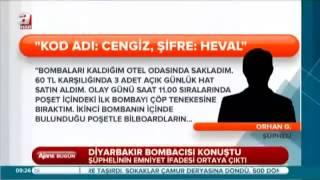 Diyarbakır bombacısı konuştu Ahaber