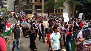 Protest For Gaza - Palestine | Thousands rally up in Chicago to protest against Israel