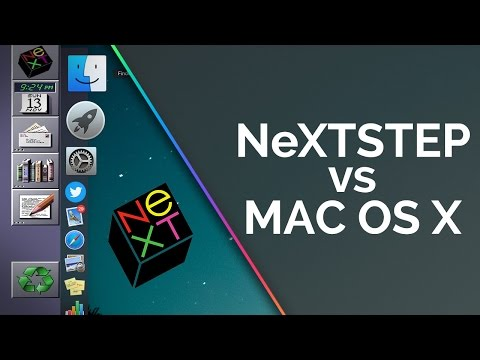 NeXTSTEP vs Mac OS X - System Demo and Comparison