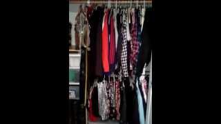 Closet Organizing Using A Double Rod For Longer Garments