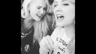 Abigail Breslin and Billie Lourd singing 'Get Out' (Jojo)
