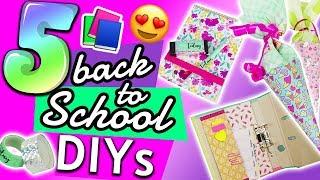 5 DIY BACK TO SCHOOL IDEEN | Einfach DIY & Hacks für die Schule für dich & deine BFF DIY Inspiration