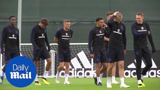 England returns smiling to practice after pummeling Panama 6-1