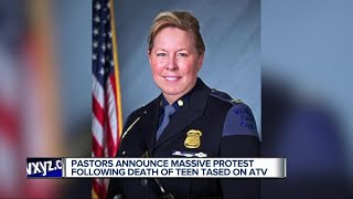 Pastors announce massive protest following death of teen tased on ATV