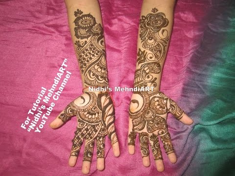 Mehndi Patterns For Small Hands : Arabic henna mehndi design tutorial for small child youtube