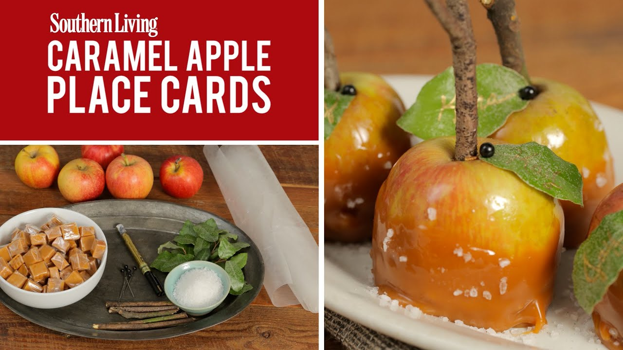 Caramel apple place cards fall decoration youtube