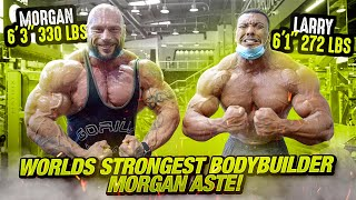 "WORLDS STRONGEST BODYBUILDER, MORGAN ASTE! 6'3"" 330 LBS! RIPPED!"