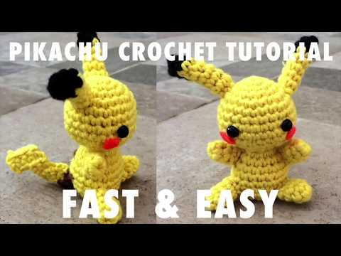 CROCHET PIKACHU PATTERN - Amigurumi Pokemon Pdf Pattern - Crochet ... | 360x480