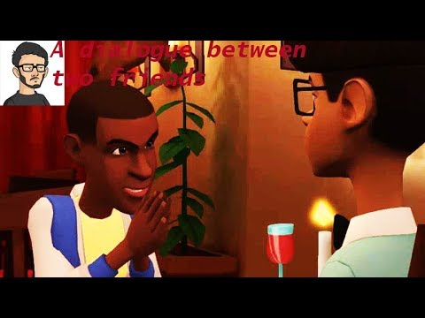 A dialogue between two friends making plans for the weekend(Animated Film)