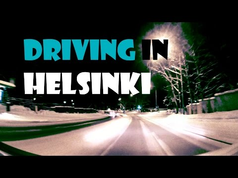 Driving in Helsinki (wintertime), Filmed with Liquid Image Ego (Low Light Test)